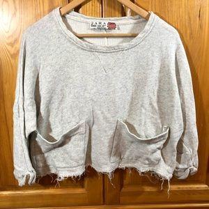 Zara Basics Crop Top Sweater